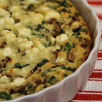 That Shiksa Can Bake – Spinach, Mushroom and Feta Quiche
