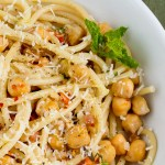 Pasta with Chickpeas, Mint and Pork Broth