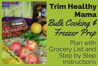 Bulk Cooking/Meal Prep for Trim Healthy Mamas