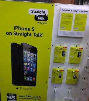 Straight Talk iPhone Display