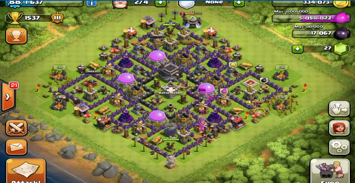 Pics photos best level 9 10 town hall base set up for clash of clans