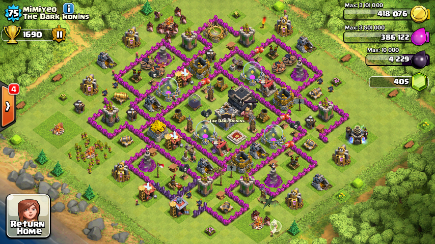 Best farming base town hall level 6