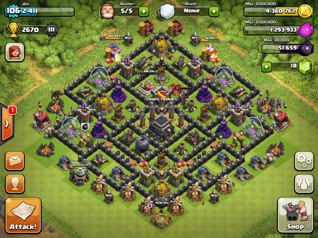 Top 10 Clash Of Clans Town Hall Level 9 Defense Base Design