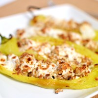 Cream Cheese & Sausage Stuffed Peppers