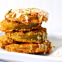Fried Green Tomatoes with Cajun-Dill Buttermilk Sauce