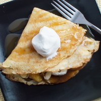 Amaretto Crepes & Banana-Brown Butter Sauce