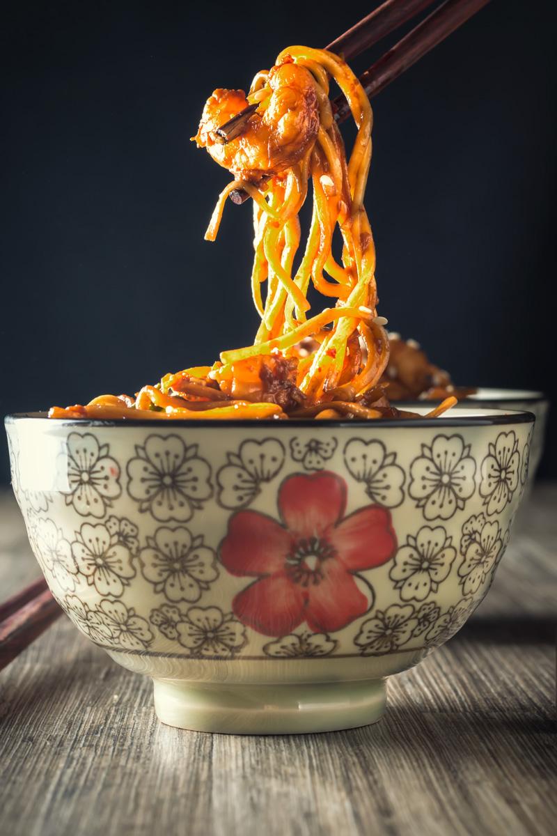 Ginger Garlic Chili Shrimp Stir Fry