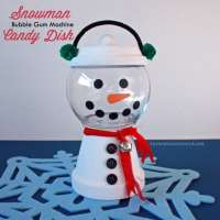 Clay Pot Snowman Candy Dish