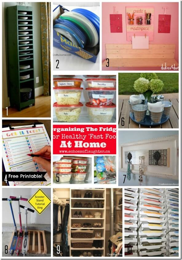 10 Organizing Ideas from Monday Funday Link Party