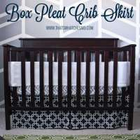 Easiest Adjustable Box Pleat Crib Skirt Tutorial