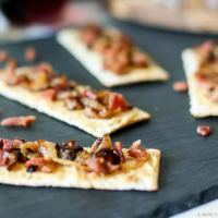 Bacon and Onion Tart Appetizer