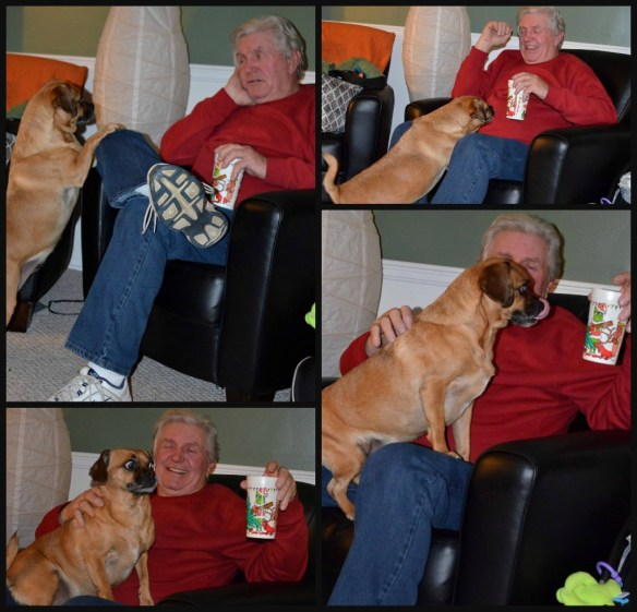 dad and boof collage