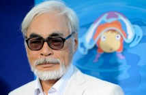 "Hayao Miyazaki of Japan, director of the animated film ""Ponyo,"" poses at a special screening of the film in Los Angeles, Monday, July 27, 2009. (AP Photo/Chris Pizzello)"
