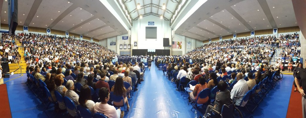 The Clarksburg High School graduation ceremony held less than twelve hours following the fatal crash at Mt. St. Mary's College in nearby Emittsburg. photo from Twitter