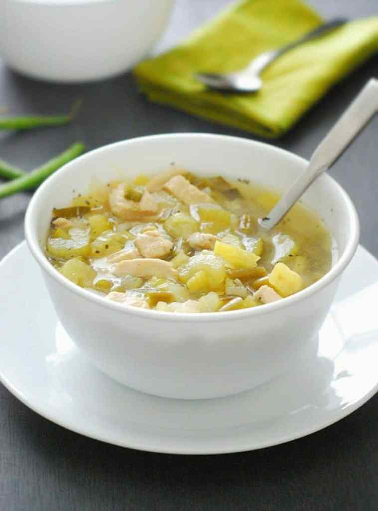 Chicken Soup - this low carb soup is tasty, hearty and comforting without all the guilt.