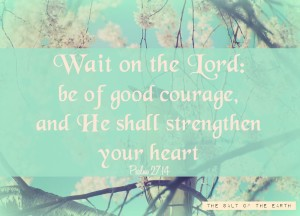 wait on the Lord, waiting for God's promise, Psalm 27