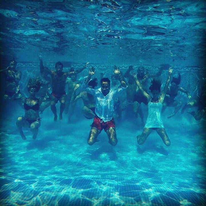 Post wedding ceremony with friends underwaterphotography outdoor gopro goprooftheday funhellip