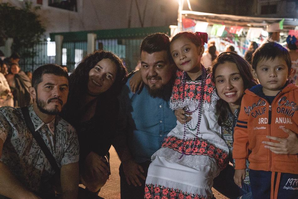 Proyecto Panorama celebrando el día de la virgen de guadalupe