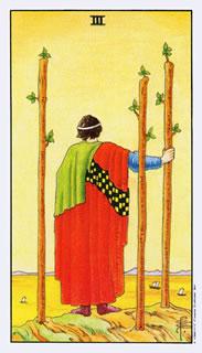 Tarotkaart betekenis staven drie