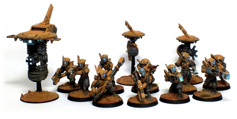 Tau Empire Commission Complete Warhammer 40k Tau Empire OSL commissions
