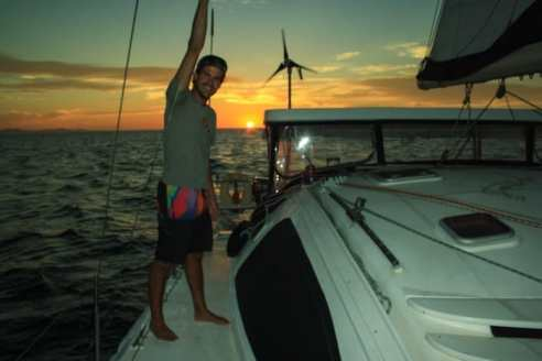 Sailing the Sea of Cortez, Mexico.