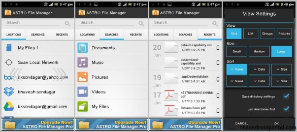 Astro File manage for android ASTRO File Manager   Sync & Manage Android Files With Cloud Storage