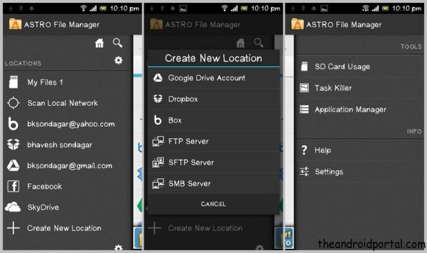 Astro File manager Cloud Storage