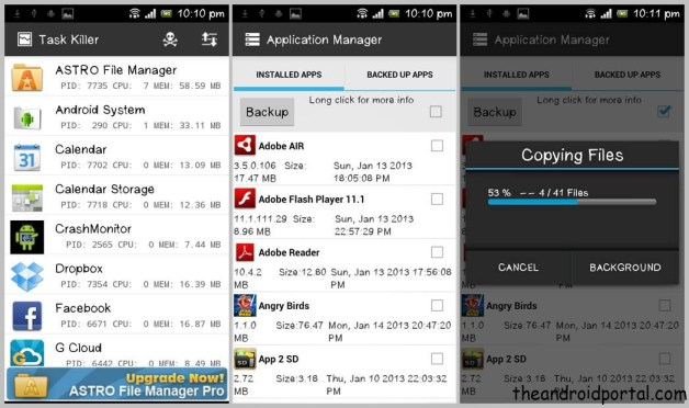 Astro File manager Task Killer App manager ASTRO File Manager   Sync & Manage Android Files With Cloud Storage