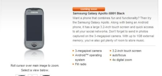 Samsung Apollo i5801 Orange UK