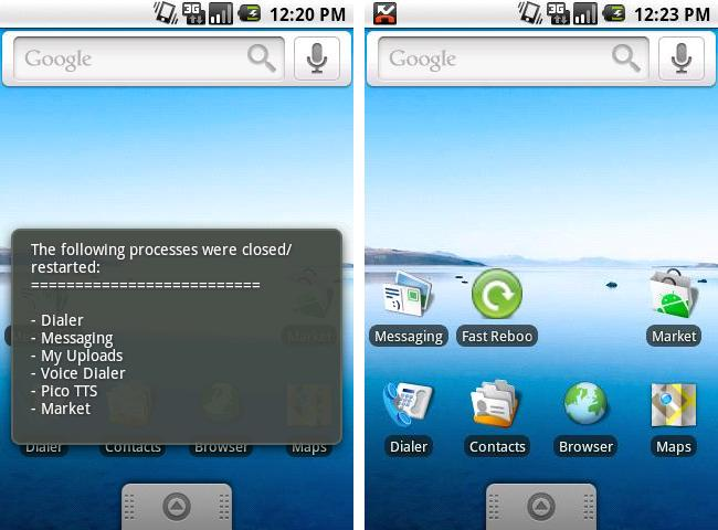 Fast Reboot Android App to speed up phone