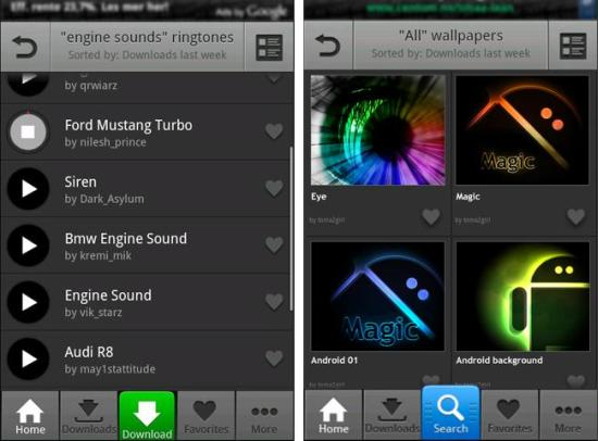Android Zedge Ringtones & Wallpapers