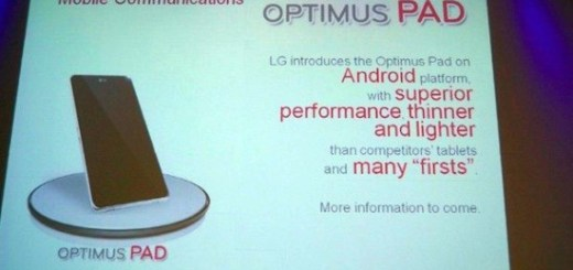 8.9 inch LG Pad with honeycomb tegra 2 processor