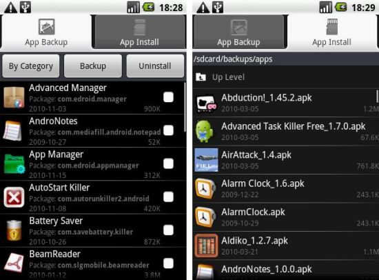 Application Manager Android App