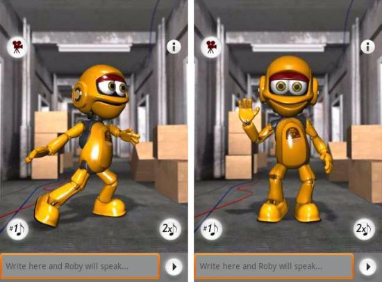 Talking Roby The Robot Android App