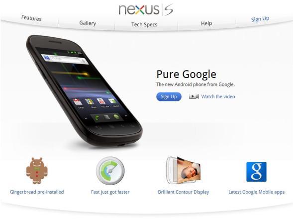 Google Nexus S Pictures
