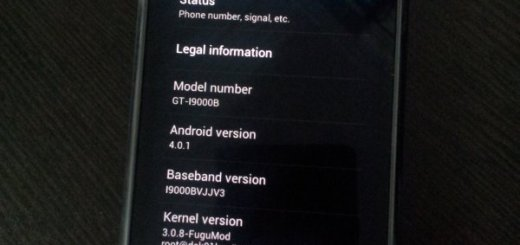 Galaxy S i9000 Android 4.0 Ice Cream Sandwich