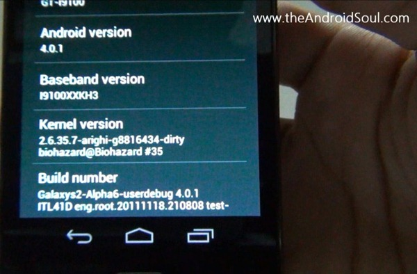 Android 4.0 for Galaxy S2