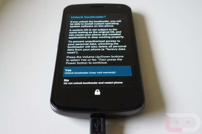 Unlock Galaxy Nexus Bootloader
