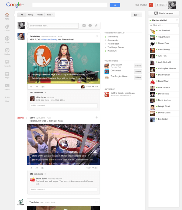 Google Plus Upgrade
