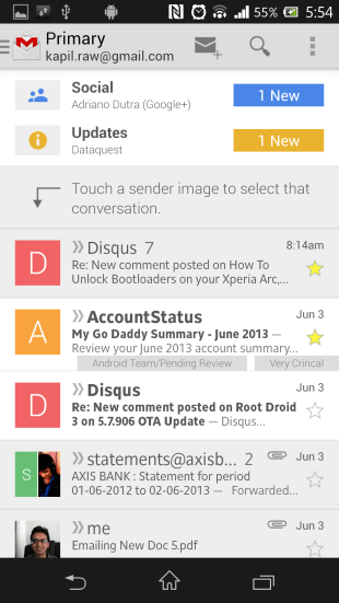 Gmail Android App New Inbox