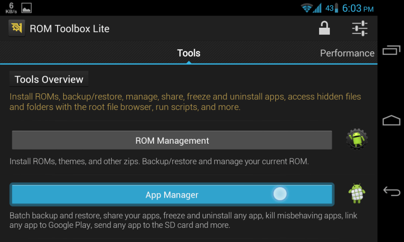 ROM Toolbox Android App