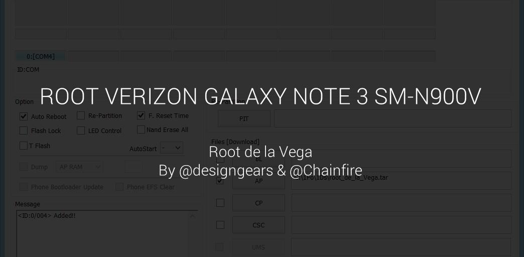 Verizon Galaxy Note 3 Root