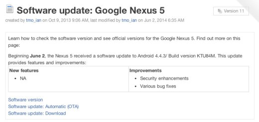 Android 4.4.3 Update Release Date