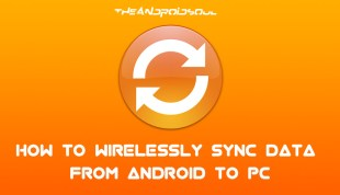 how to wirelessly sync data from android to pc