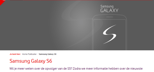 Galaxy S6 Vodafone Netherlands