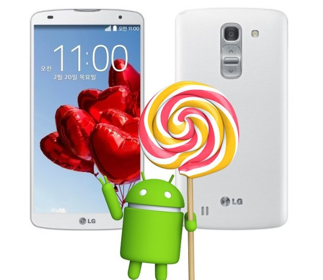 LG G Pro 2 with Lollipop