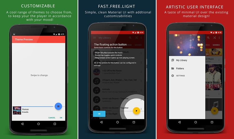 new lantern music player android app