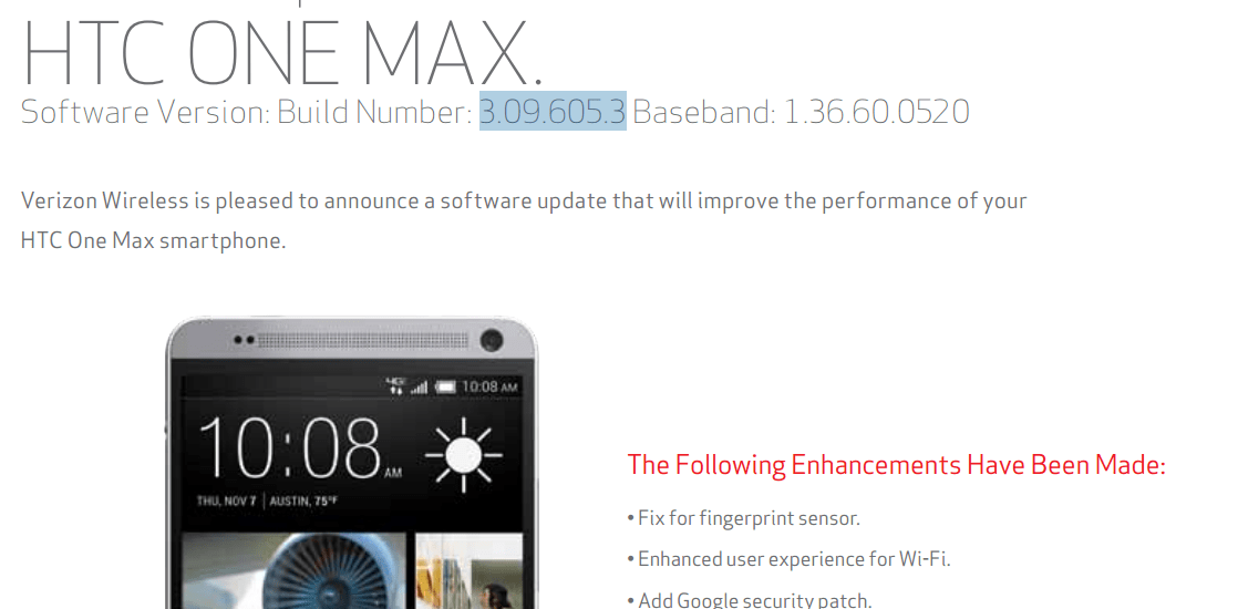 HTC One Max update 3.09.605.3