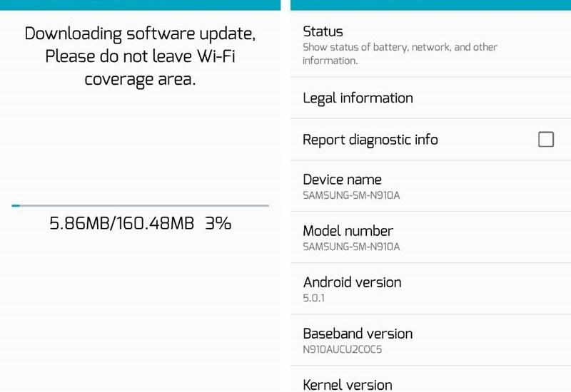 AT&T Note 4 Update OC5