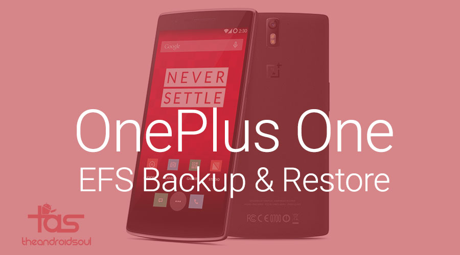 OnePlus One EFS Backup and Restore